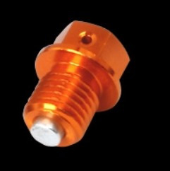 Magnetický výpouštěcí šroub M12x12-1,5 - oranžový (KTM + Hus...