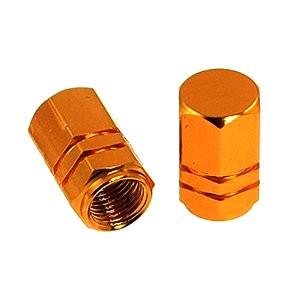 Čepičky ventilků HEXAGON oranžové