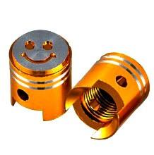 Čepičky ventilků PISTON II oranžové