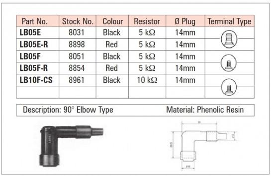 NGK zapalovací fajfka - LB05FR