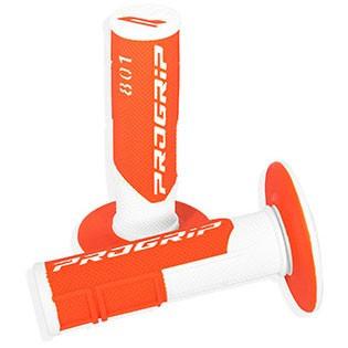 PROGRIP 801 off-road gripy dvouvrstvé Fluo bílo/oranžové