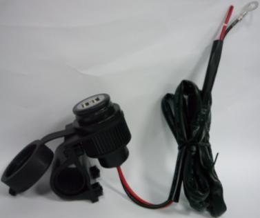 Vodotěsná USB zásuvka 12V s držákem
