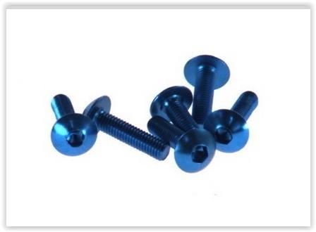 sada 6ks šroubů M5x30 imbus - modrý