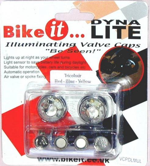 Osvětlení kol BikeIt DynaLite modré