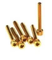 sada 6ks šroubů M6x20 imbus - zlatý