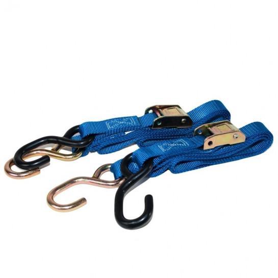 Utahovací popruhy (pár) 25mm - rychloupínací modré