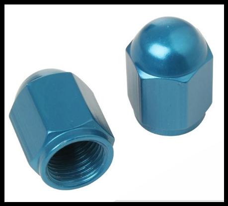 Čepičky ventilků NUT modré