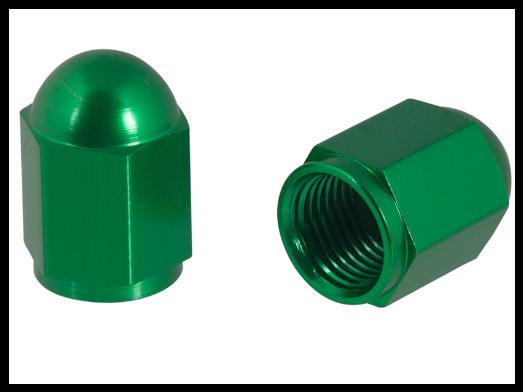 Čepičky ventilků NUT zelené