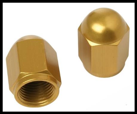 Čepičky ventilků NUT zlaté