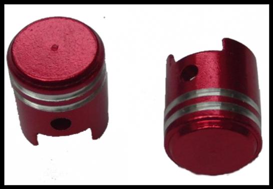 Čepičky ventilků PISTON I červené