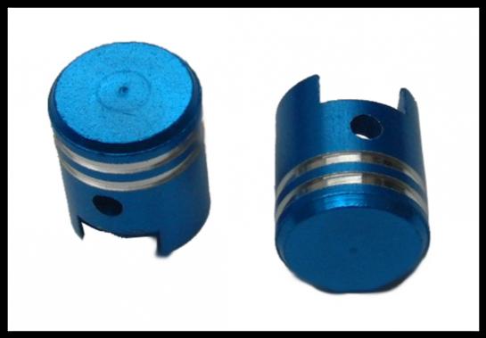 Čepičky ventilků PISTON I modré