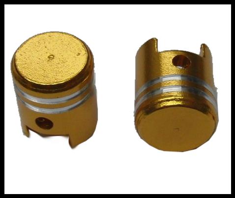 Čepičky ventilků PISTON I zlaté
