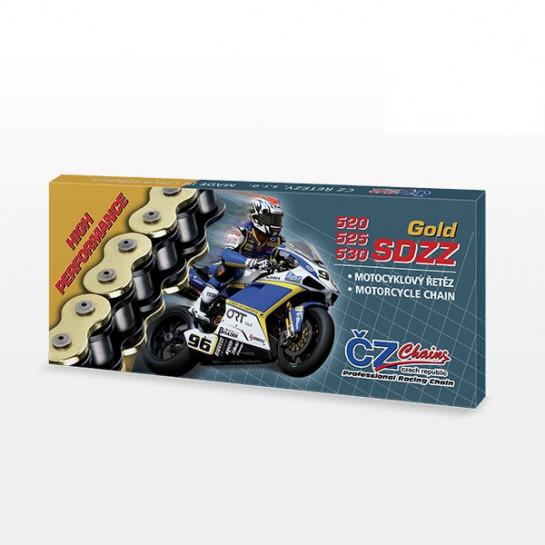Řetězová sada s ČZ HX-ring GOLD TRIUMPH 1050 Speed Triple R,...