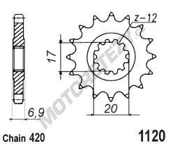 Řetězové kolečko APRILIA RS 50 rok 99-05