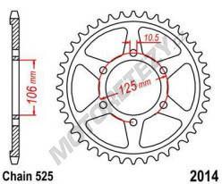 Rozeta TRIUMPH 1200 Bonneville T120 rok 16-19