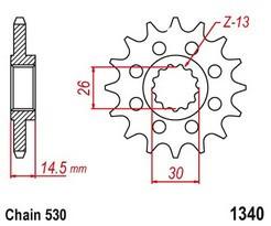 Řetězové kolečko HONDA CB 1100 / EX rok 14-19