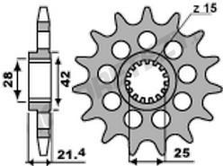 Řetězové kolečko APRILIA 900 Dorsoduro rok 17-19