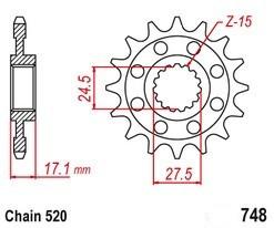 Řetězové kolečko DUCATI 959 Panigale rok 16-19