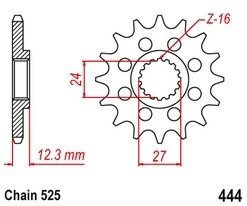 Řetězové kolečko SUZUKI GSX-R 1000 rok 17