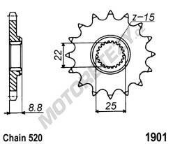 Řetězové kolečko KTM Freeride 350 rok 16-17