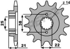 Řetězové kolečko CAGIVA 750 Elefant rok 93-98