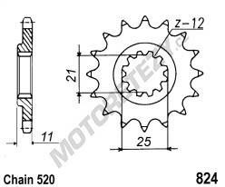 Řetězové kolečko HUSQVARNA 570 TE rok 01-04