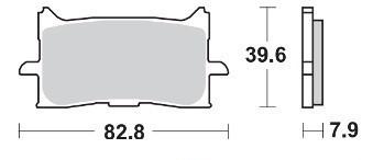Brzdové destičky DP Brakes přední HONDA CRF 1000 Africa Twin...