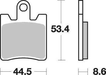 Brzdové destičky NHC přední YAMAHA FJR 1300 rok 06-14