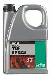 MOTOREX - Top Speed 4T - 15W50 - 4 l