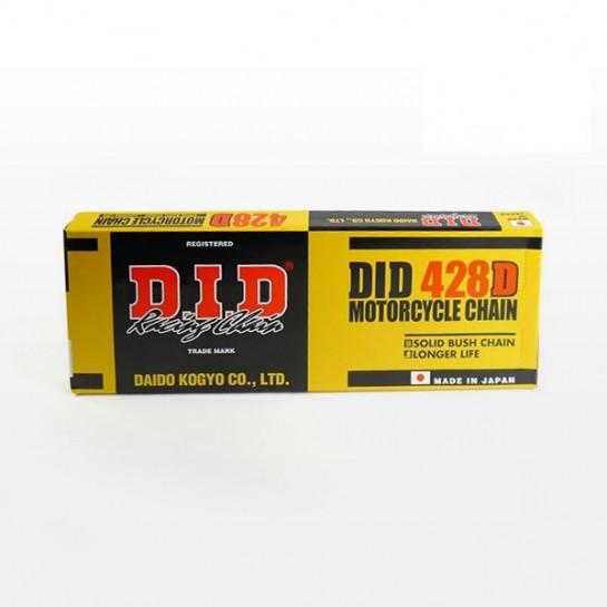 Řetěz DID 428 D, bezkroužkový, černý