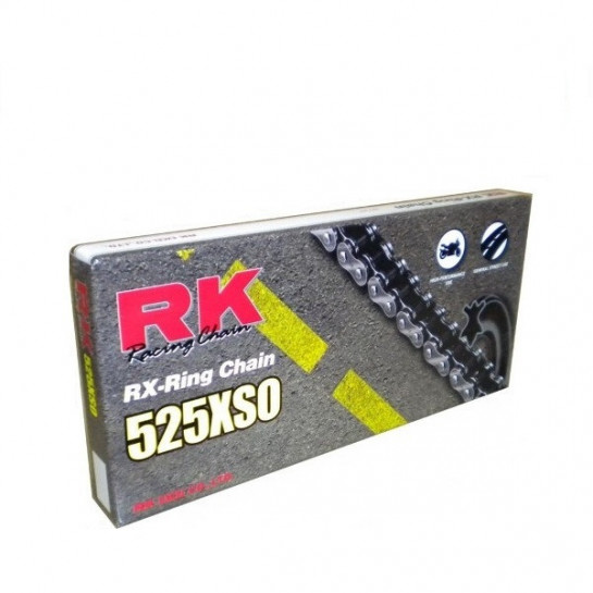 AKCE Řetěz RK 525 XSO, RX-ring, 118 článků, nýtovací spojka