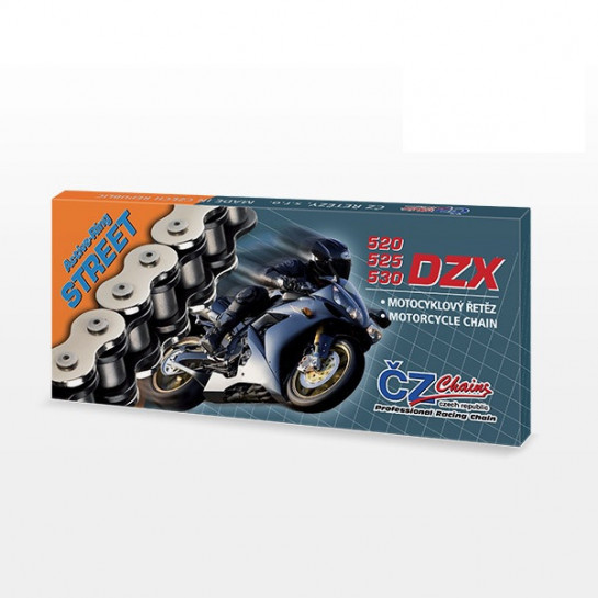Řetěz ČZ 525 DZX, X-ring, 124čl., spojka
