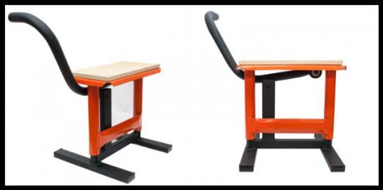 Kovový stojan pod moto MX2 oranžový - vyprodáno