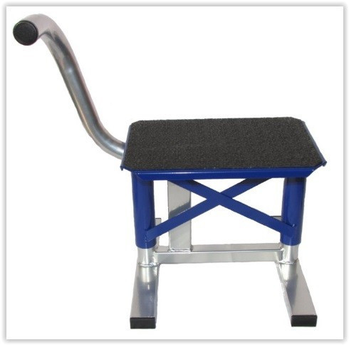 Kovový stojan pod moto -Enduro/Supermoto - modrý