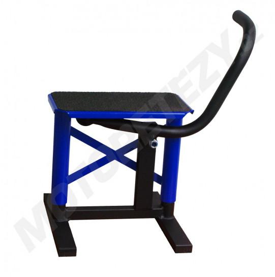 Kovový stojan pod moto MX modrý