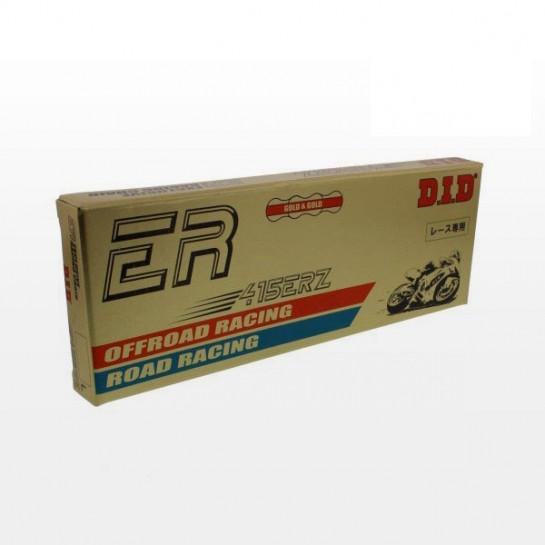 Řetěz DID 415 ERZ, bezkroužkový, zlatý, 136 článků