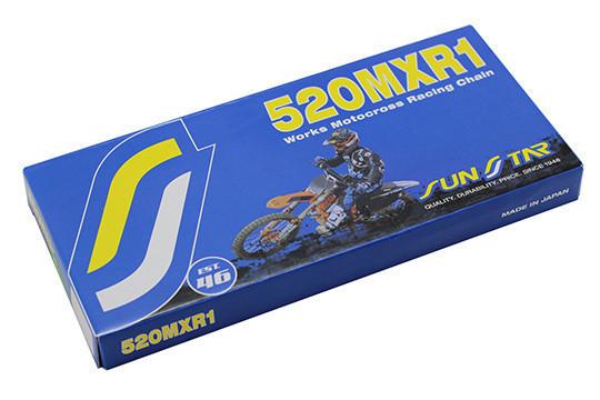 Řetěz SUNSTAR 520 MXR1, bezkroužkový, zlatý, 118čl.