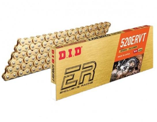 Řetěz DID 520 ERVT, X-ring, zlatý, 118 článků