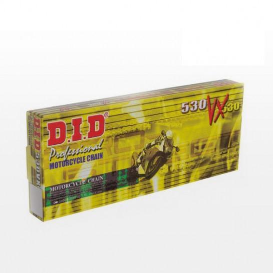 Řetěz DID 530 VX, X-ring, Zlatý GB, 118 článků