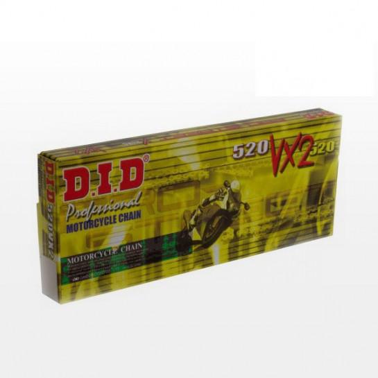 Řetěz DID 520 VX2 (VX3), X-ring, Zlatý GB, 118 článků