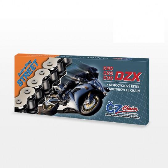 Řetěz ČZ 520 DZX, X-ring, zlatý, 116 článků, nýtovací spojka