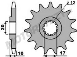 Řetězové kolečko HUSQVARNA 125 CR rok 95-12