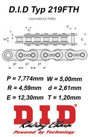 D.I.D Rozvodový řetěz DID SUZUKI GSX 750 Inazuma rok 98-01
