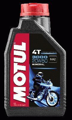 Výprodej - MOTUL 3000 4T 20W50 - 1L - pouze pro osobní odběr