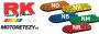 Řetěz RK 525 XSO, X-ring, barevný, 118čl., nýtovací spojka