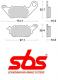 Brzdové destičky SBS zadní YAMAHA YZF-R3 rok 15-17